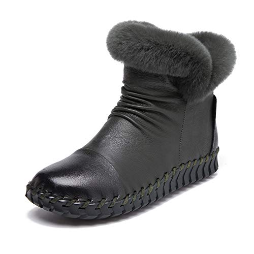 SJDYJ Ladies Booties Damen wasserdichte Winter Schneeschuhe Winterstiefel Warm Schneestiefel Mädchen Stiefeletten Winter Kurzschaft Stiefel