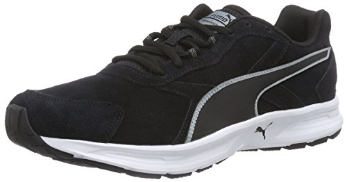 Puma Descendant v3 Suede, Herren Laufschuhe, Schwarz (black-quarry 03), 42 EU (8 Herren UK)