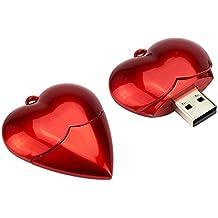 MAXINDA ® Amor Pendrive Diseño Corazón Unidad Flash USB,Rojo Entusiasmo regalo de cumpleaños a Su Novia o Amigos (16GB)