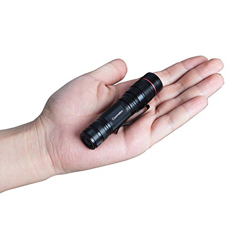 Coomatec SD-200 Mini EDC LED Tactical Flashlight, Zoom, 350lm 3 Modes, Water Resistant, Father's Day