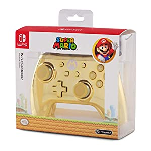 contoler nintendo switch mario gold edition chrome