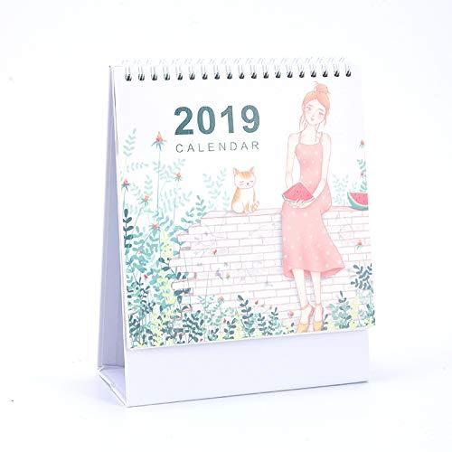 2019 Kalender, vertikaler Kalender, Tischständer, Terminplaner für Home Office 21.5x17.5x7.5cm B