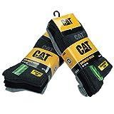 10 paia calze corte uomo Cat Caterpillar in morbido cotone altezza metà polpaccio disponibili in varie taglie e colori (Assortito, 3942)