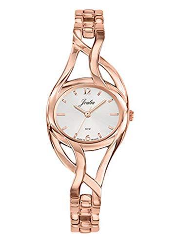 Joalia H630M580 - Orologio da donna con cinturino dorato rosa, quadrante bianco