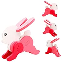 Vibgyor Vibes Early Age 3D Wood Jigsaw Puzzles in Animals Shapes for Small Kids, Pack of 3 Different Patterns Puzzle (17.5x14.5cm) (Multi Color)