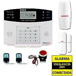 ★★★Alarma Hogar AZ028 GSM Castellano sin cuotas para casa. Facil instalación. Asistencia telefónica en castellano. APP control remoto SMS