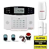 Alarma Hogar AZ028 gsm Castellano sin cuotas para casa. Facil instalación. Asistencia telefónica en Castellano. App Control Remoto SMS. Facil configuración
