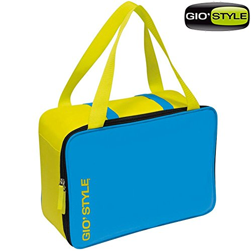GioStyle Reise-Camping Kühlbox Kühltasche mit Kapazität 15, 5 Liter Kühltasche Reise-Camping Meer Strand Lime Cool Bag Gio 'Style 2 Varianten, Blau, 26x15, 2305301