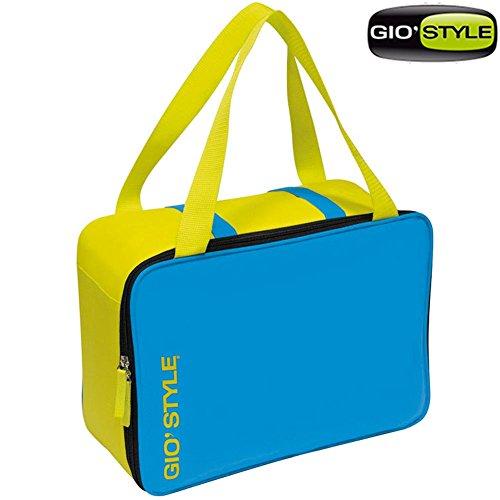 GioStyle Kühlbox Kapazität 15, 5Liter Kühltasche Meer Strand Lime Cool Bag Gio 'Style 2Varianten Reise-Camping, Blau, 26x15
