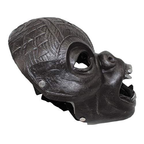 QWEASZER Black Panther Maske, T'Challa Mask Neuheit Halloween Kostüm Black Panther Helm Deluxe Resin Movie Cosplay für Erwachsene,D-OneSize (Black Panther Kostüm Männer)