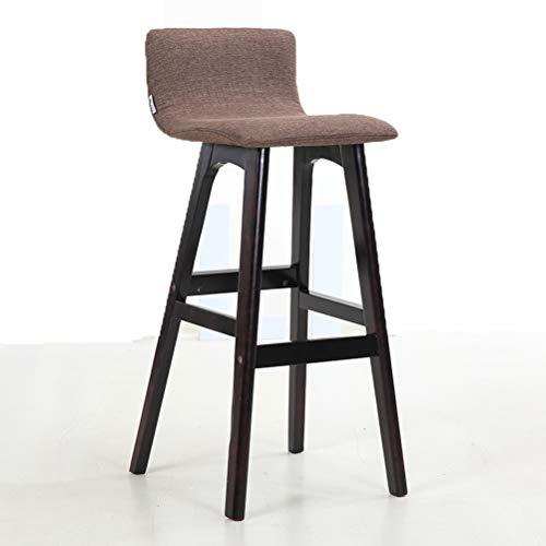 Lrzs-furniture schienale in legno massello sedia da bar sedia da bar sedia da bar sgabello da bar sgabello da bar semplice seggiolone per famiglie (colore : brown)