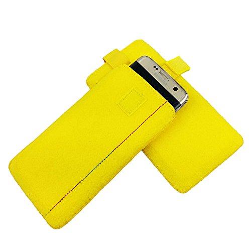 5,5' Filztasche Tasche Hülle aus Filz für iPhone 7 Plus Lenovo Moto Z Play X Force X Play G4 G4 Plus Moto G5 G5 Plus LG V10 LG K10 2017 LG G Flex 2 X mach OnePlus 3T Samsung J7 (2016) (2017) Huawei Ho Gelb