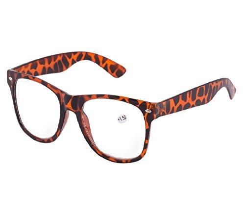 NEW UNISEX (MENS WOMENS) Panther Lesebrille +1.5 Brille SUNGLASSES Morefaz(TM) (Tortoise +1.5 Lesebrille reading glasses) -