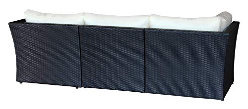 Baidani Designer Sitzgruppe Atmosphere, 1 Ecksofa, 1 Tisch mit Glasplatte, 2 Bezugsgarnituren, schwarz Bild 3*