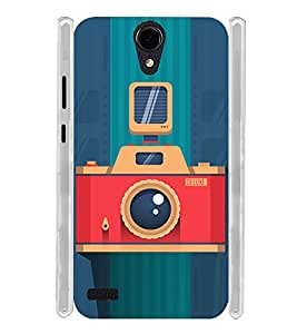 Vintage Flash Camera Soft Silicon Rubberized Back Case Cover for Panasonic T45 4G :: Panasonic T45