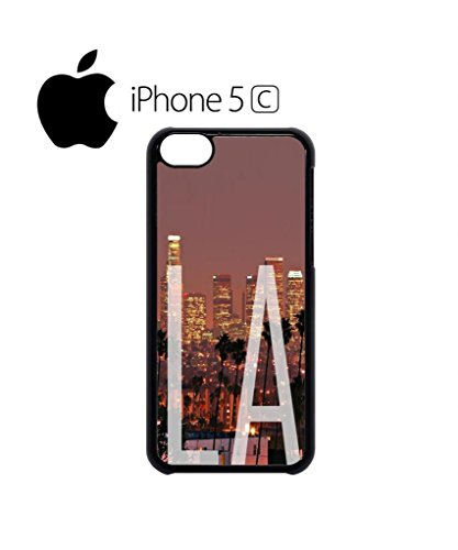 Los Angeles LA Downtown Retro Vintage Cool Funny Hipster Swag Mobile Phone Case Back Cover Hülle Weiß Schwarz for iPhone 5c White Weiß