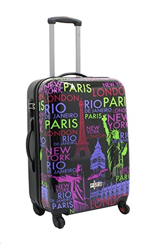 Tapis Rio Londres Paris Taille XL Carbon/polycarbonate rigide Valise trolley Case FA. bowatex