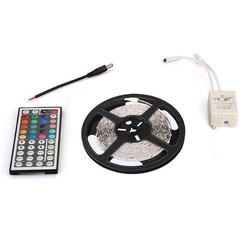 TOOGOO(R) 5M 5050 SMD 150 LED Strip bar nastro RGB + 44 tasto del telecomando, senza scarico