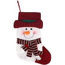 YJZQ Papá Noel Botas calcetín de Navidad Decorativa 45 cm nikolausstrumpf para Rellenar y Colgar Niños