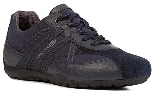 Geox U743FB Uomo Ravex Sportlicher Herren Sneaker, Schnürhalbschuh, Freizeitschuh, Atmungsaktiv, Herausnehmbare Innensohle Blau (Blau), EU 42
