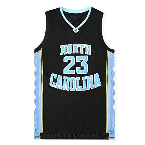 Pilang Basketball-Trikot Jersey, North Carolina University Edition Michael Jordan # 23, atmungsaktiv schnell trocknend Weste (Color : Schwarz, Size : S)