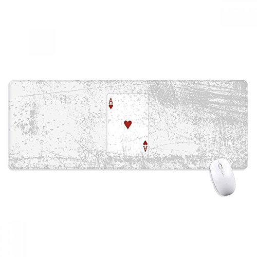 beatChong Herz-A-Spielkarten-Muster Griffige Mousepad Große Erweiterte Spiel Büro titched Kanten Computer-Mat Geschenk