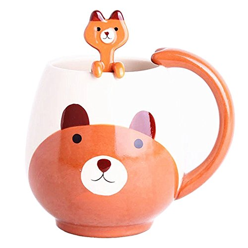 Orso bruno Mug Cup Set con cucchiaino Hanging