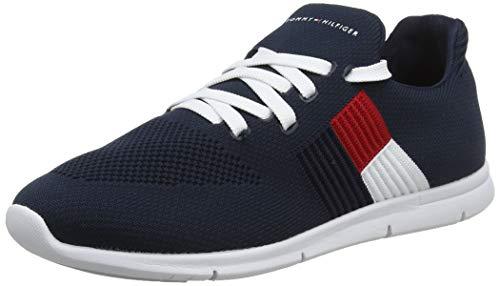 Tommy Hilfiger Damen Knitted Flag Light Sneaker, Blau (Midnight 403), 36 EU Schuhe Slip