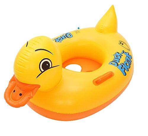 DEMU Babyboot Schwimmsitz Schwimmhilfe Schwimmreifen Schwimmring Baby Ente Duck