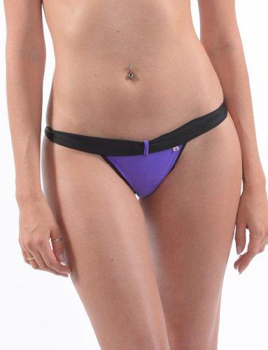 SKINSIX Designer Bikini-Set BOND bwu 175 Tanga bwo 185 Bandeau purple, das Original Purple
