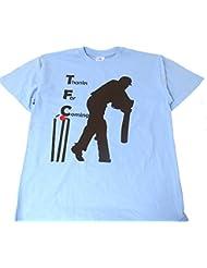 Cricket gracias por venir camiseta, color azul, tamaño mediano