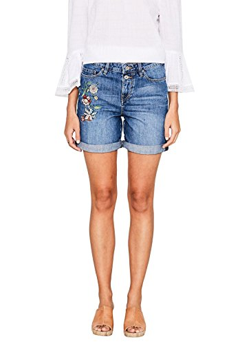 edc by ESPRIT Damen Short 047CC1C008, Blau (Blue Medium Wash 902), W28