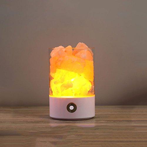 Preisvergleich Produktbild WSXXN Himalaya Kristall Salz Lampe Tischlampe warmen bunten Nachtlicht kreative Geschenk, seine Freundin ein Kind Geburtstagsgeschenk zu senden (Farbe : Weiß)