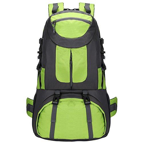 Alta capacità All'aperto Impermeabile Sport arrampicata Escursionismo Viaggio Le spalle Campeggio Zaino (Blu) verde