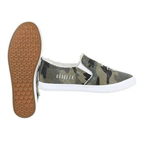 Ital-Design - Pantofole Donna Grün 6323-Y