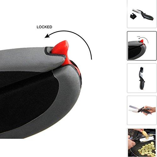 Hochwertige 2in 1Clever Cutter, Cutting Board Schere AS SEEN ON TV, Food Chopper Küchenmesser und Schneidebretter Complex - 6