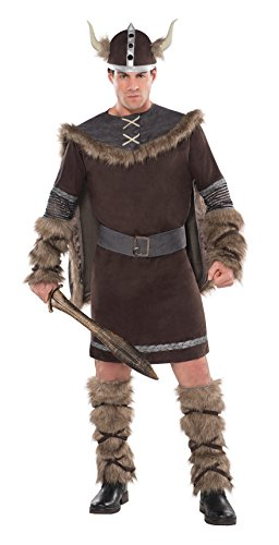 Amscan 997045 Herrenkostüm Viking Warrior, braun, -