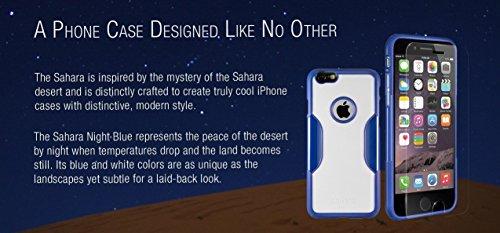 iPhone 6 Hülle, (Rosengold) SaharaCase Schutz Kit Paket mit Null Schaden [ZeroDamage gehärtetes Glas Bildschirmschutz] Robuster Schutz Anti-Rutsch-Griffigkeit [Stoß sicherer Puffer] Schlanke Passform  Blau
