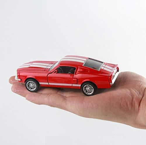JIANPING Modello Auto Ford Mustang 1967 GT500 Modello in Lega 1:32 Modello in Lega Modello di Auto-Modello Regalo Ragazzo Modello di Auto (Colore : Rosso)
