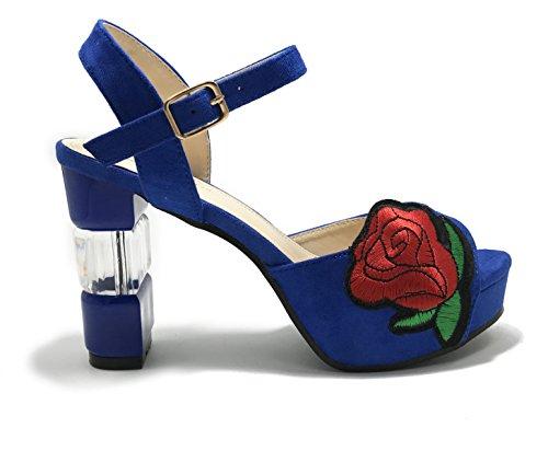 Sandali Signora Sandali Casual Scarpe Trampolieri Esterni Blue