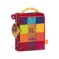 B. toys by Battat BX1002Z One Two Squeeze, 10 Soft & Colorful Stacking Blocks - Bpa Free