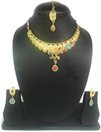 Agaas Enterprises Designer Jewellery Alloy Multicolour Partywear Collection Multicolour Set For Women And Girls