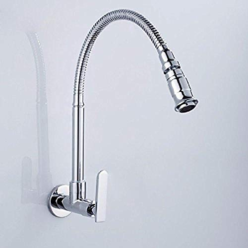 Professional Kitchen Sink Tap Single Cold Brass in-Wall Style Basin Mixer Tap Basin Kitchen Faucet -