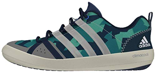 ADIDAS Sailing Segelschuhe Camouflage, Größe:47 1/3, Farbe:Mint Blue/White/Green