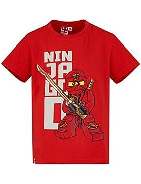 Lego Ninjago Chicos Camiseta Manga Corta - Rojo