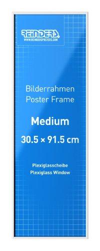 Poster Frame - white | acrylic | medium // Bilderrahmen medium 30,5 x 91,5 cm // Bilderrahmen für Medium Poster // Poster günstig aufhängen // Wechselrahmen aus bruchsicherem Acrylglas // Reinders #16640