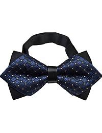 NiSeng Boda del Smoking Corbata Elegante Corbatas de Boda Ajustable Pre-Atado Pajaritas para Traje Bow Tie Trabajo/Negocios/Fiesta Hombre