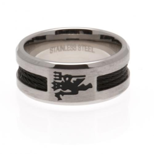 Manchester United F.C. Schwarz Inlay Ring klein Manchester United Fashion