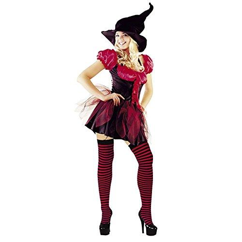 MIXLOT Frauen Sexy erwachsene Hexen Halloween Kostüm Scary Creepy Fancy Kleid Größe S-XL (Large, Rot Hexen (Scary Hexe Halloween)