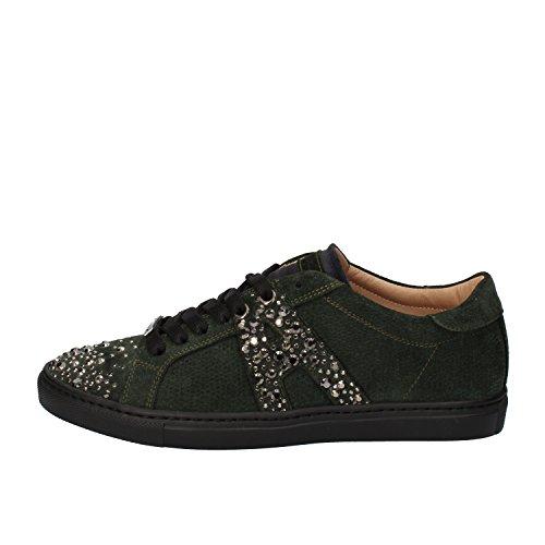alessandro-dellacqua-sneakers-donna-verde-camoscio-36-eu